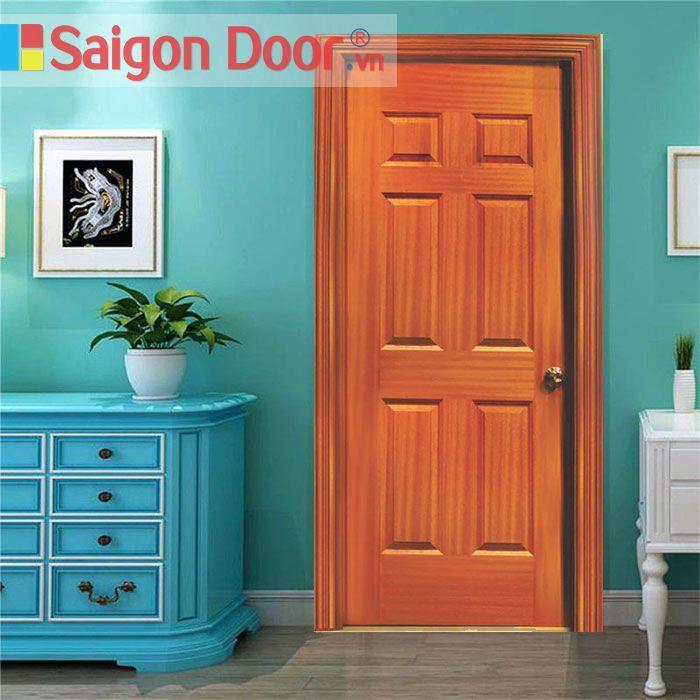 Cửa Gỗ HDF veneer 6A – Sapele chất lượng tốt LH 0826.901.901