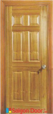 Cửa Gỗ HDF veneer 6A – Teak