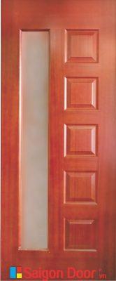 Cửa gỗ HDF veneer 6GL – Căm Xe