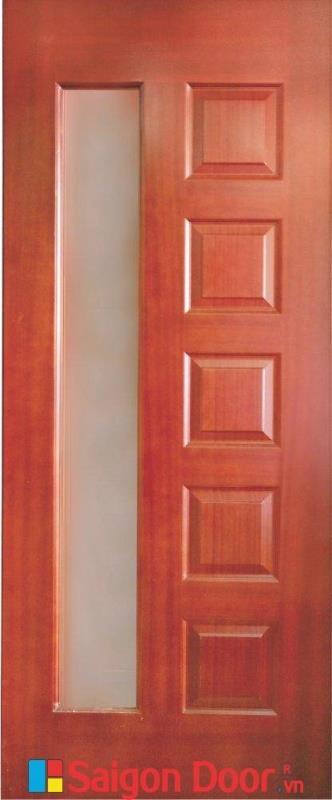 Cửa gỗ HDF veneer 6GL – Căm Xe cao cấp LH 0933.707707