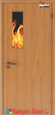 Cửa Gỗ Chống Cháy GCC-P1G1