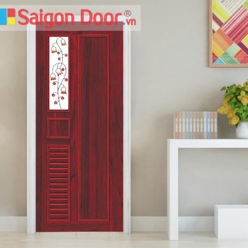 Cửa nhựa gỗ ghép thanh cao cấp NG-B25 giá tốt LH 0826.901901