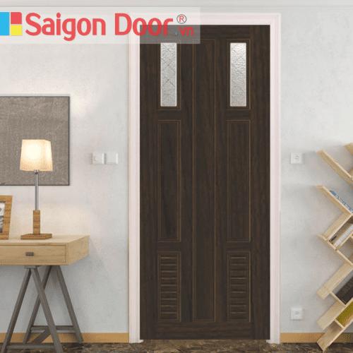 Cửa nhựa gỗ ghép thanh cao cấp NG-C23 giá tốt LH 0826.901901