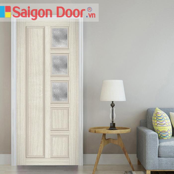 Cửa nhựa gỗ ghép thanh cao cấp NG-G30 giá tốt LH 0826.901901