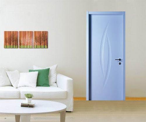 Cửa HDF màu xanh dương_1_1