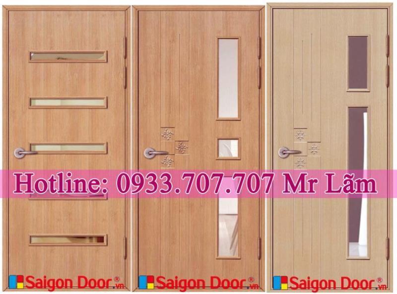 Cửa Nhựa Giả Gỗ tại Showroom Saigondoor.vn 01296.901.901