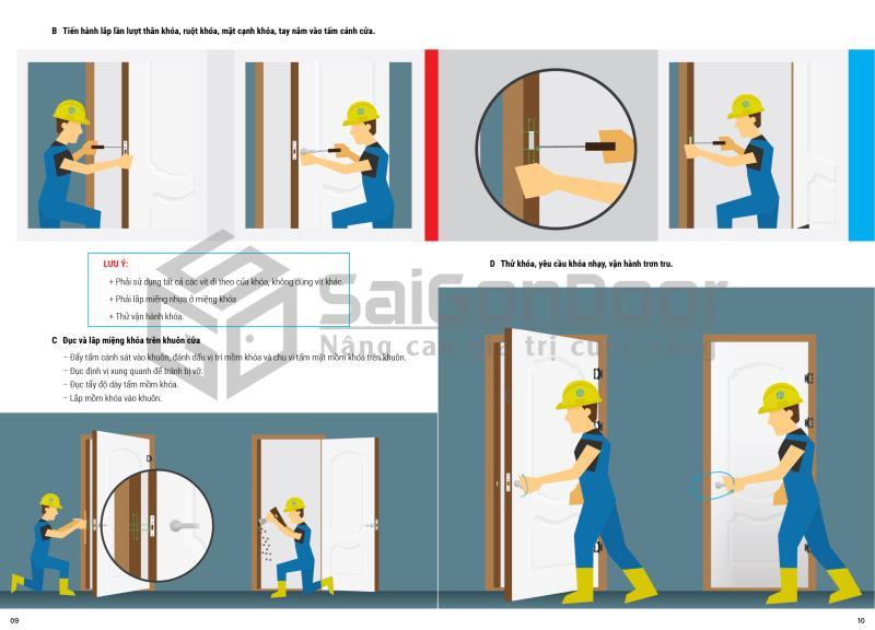 Hướng dẫn lắp đặt cửa gỗ, cửa nhựa, cửa chống cháy