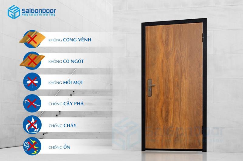 Công dụng cửa gỗ lõi thép