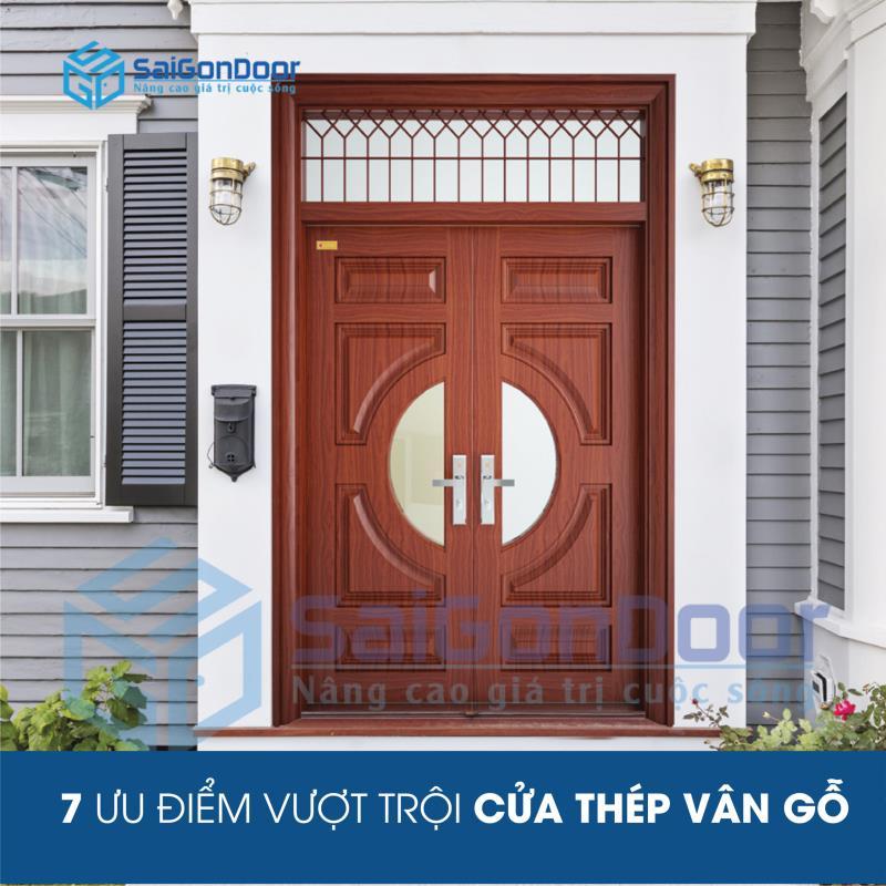 7 ưu điểm cửa thép vân gỗ