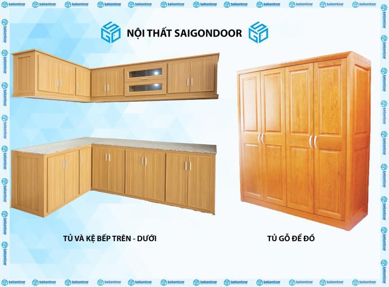 Tủ bếp, kệ bếp, tủ quần áo SaiGonDoor