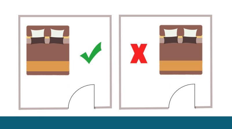Cách bố trí giường theo cấu trúc cửa trong nhà