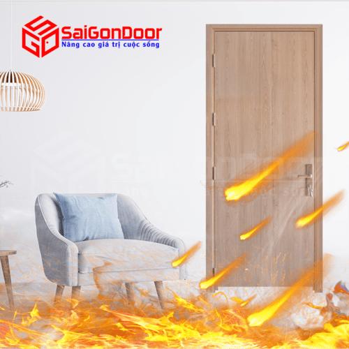 Cửa gỗ chống cháy SaiGonDoor