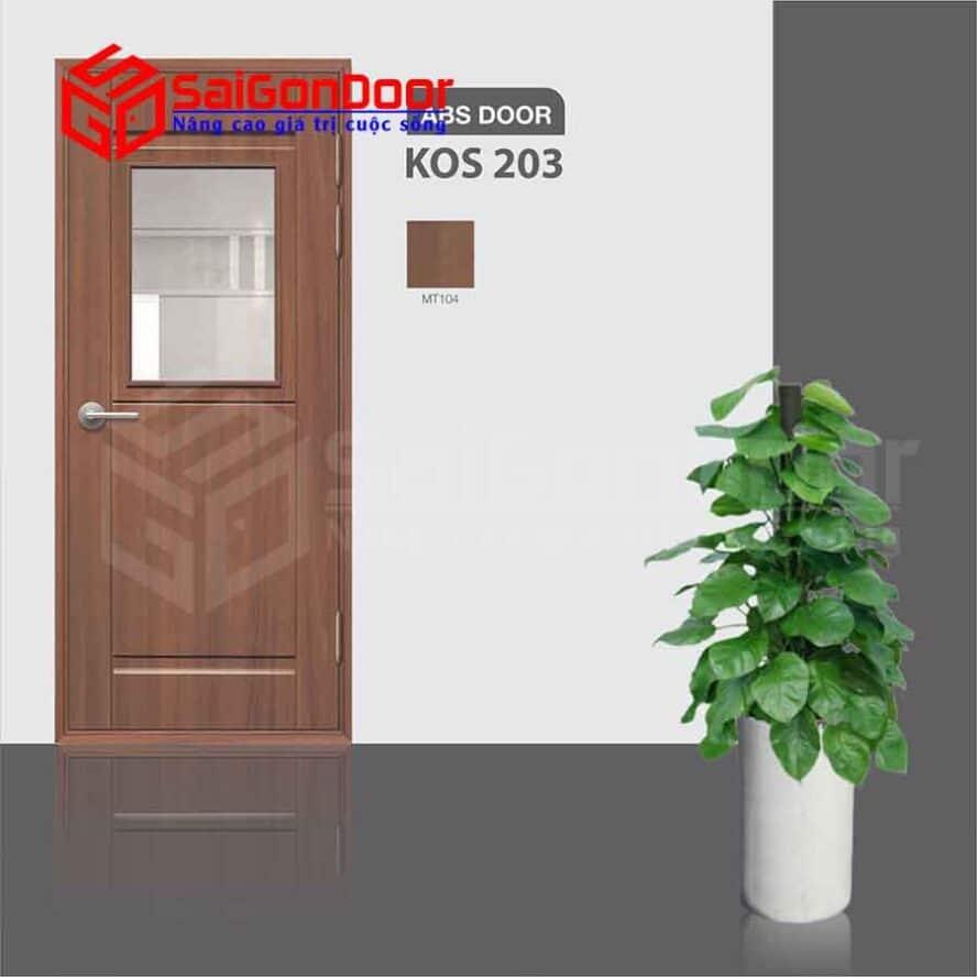 Cửa Nhựa ABS Hàn Quốc KOS.203-MT104