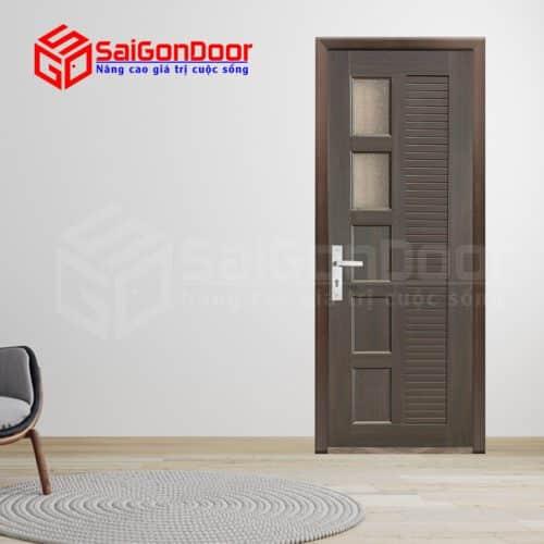 Cửa nhựa gỗ ghép thanh cao cấp NG-Y26