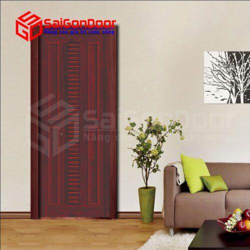 Cửa nhựa gỗ ghép thanh cao cấp NG-B22