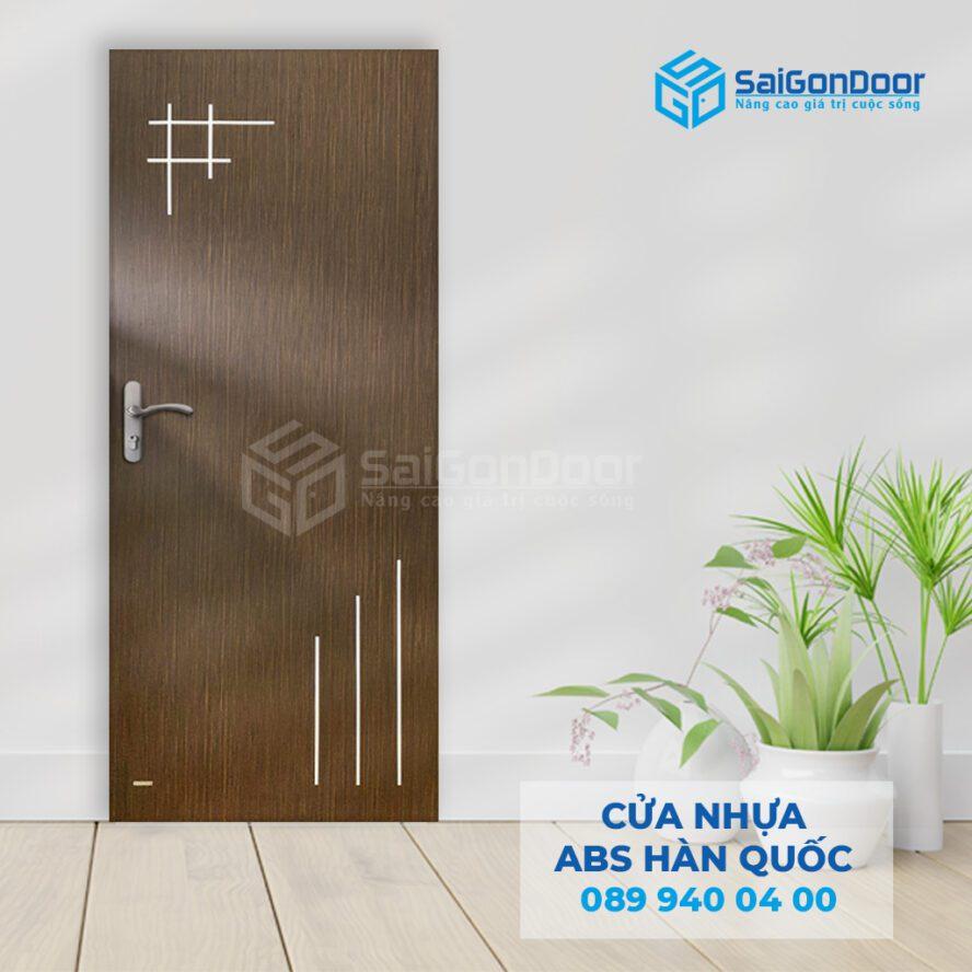 Cửa thông phòng bằng dòng cửa nhựa ABS Hàn Quốc