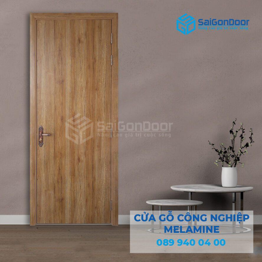 Cửa thông phòng làm bằng gỗ công nghiệp MDF