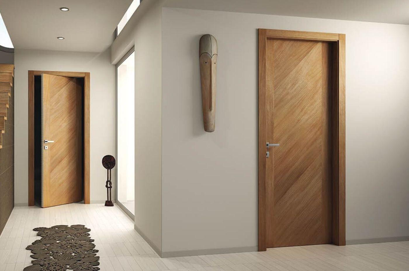 Cửa gỗ công nghiệp hdf được làm từ gỗ hdf đã qua xử lý