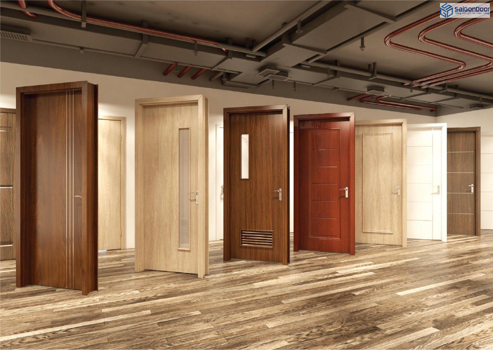 Cửa gỗ nhựa composite khá thẩm mỹ