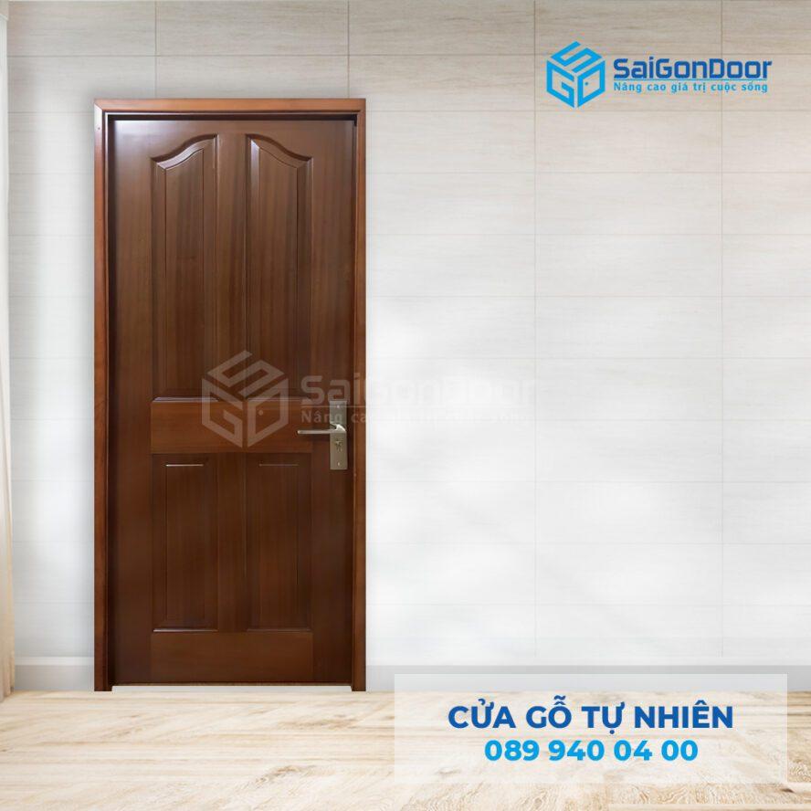 Cửa thông phòng 2 cánh bằng gỗ tự nhiên