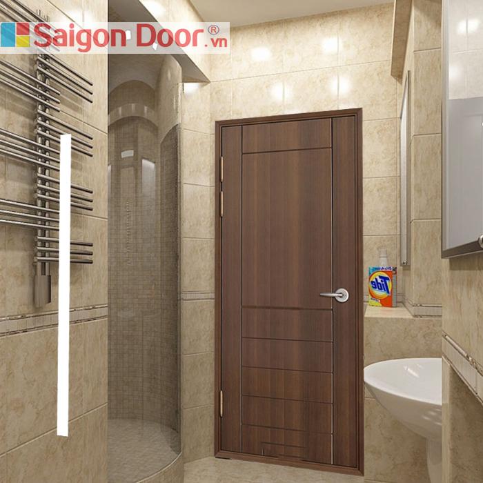 Cửa gỗ nhà vệ sinh SGD 03 sang trọng, hiện đại