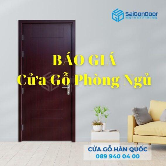 Báo giá cửa gỗ phòng ngủ chi tiết tại Saigondoor