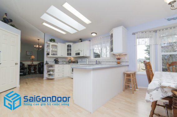 beautiful shot modern house kitchen 2