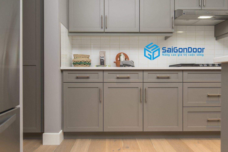beautiful shot modern house kitchen shelves drawers scaled