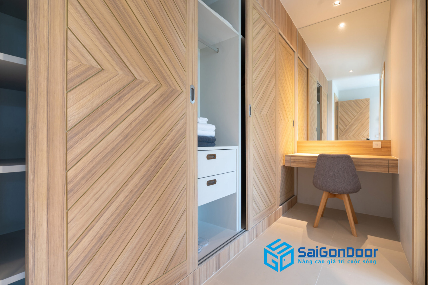 built wooden wardrobe with working table chair bedroom scaled
