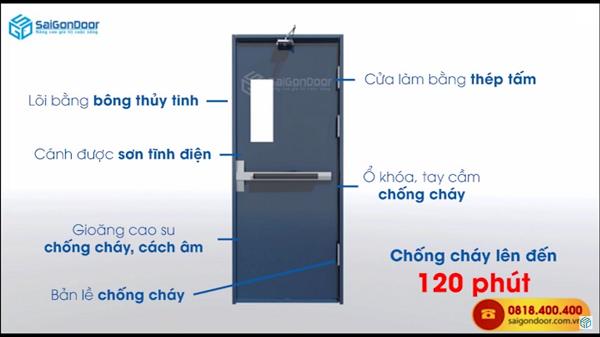 Cửa thép chống cháy saigondoor lên đến 120 phút