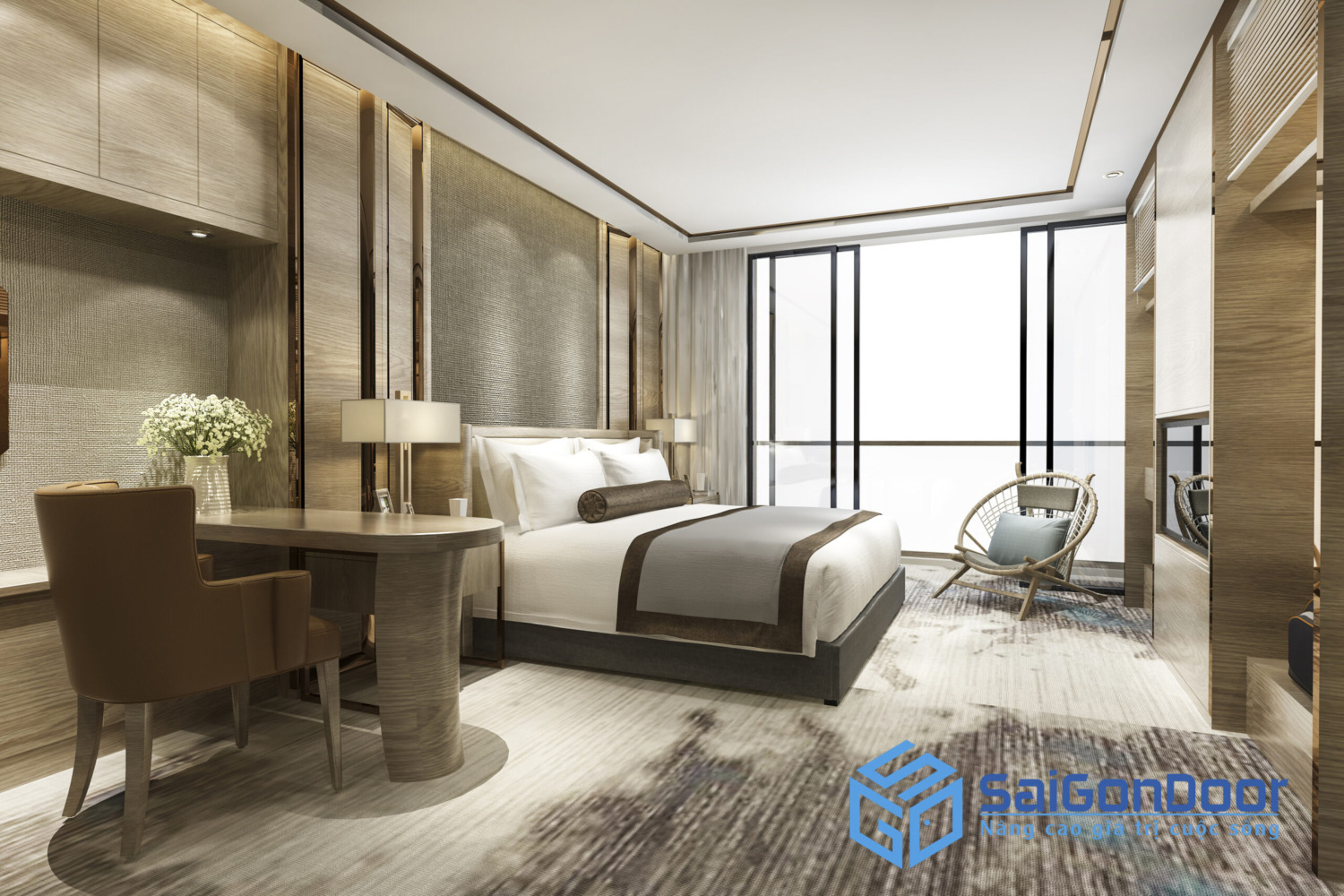luxury classic modern bedroom suite hotel scaled