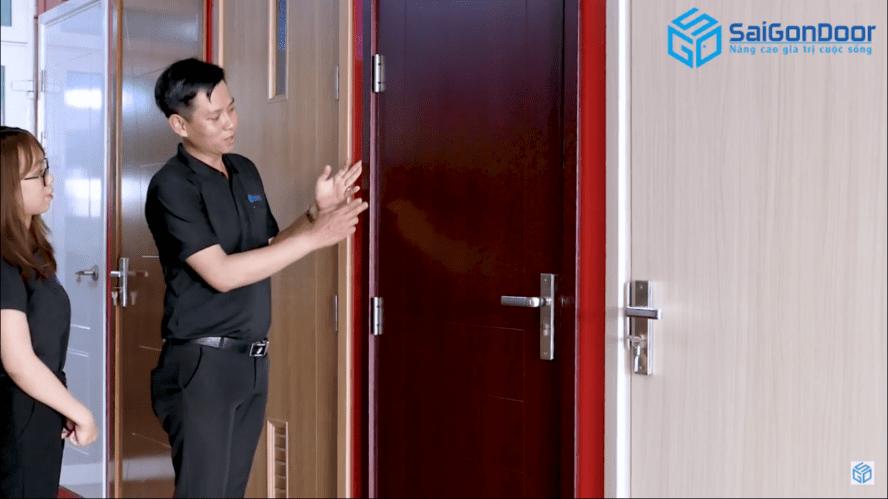 cửa nhựa gỗ composite Saigondoor