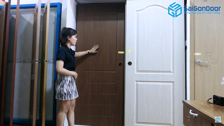 Mẫu cà phê giả gỗ cửa nhựa ABS Hàn Quốc