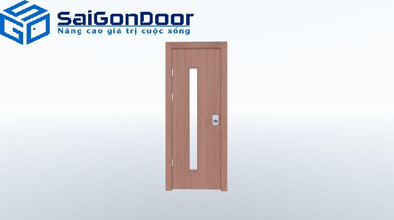 Hình ảnh cửa nhựa gỗ composite kiểu dáng hiện đại