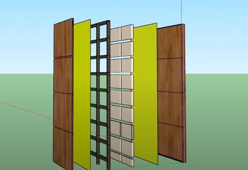 Các lớp của cánh cửa gỗ chống cháy