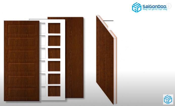 Giới thiệu chi tiết cấu tạo cửa gỗ công nghiệp HDF
