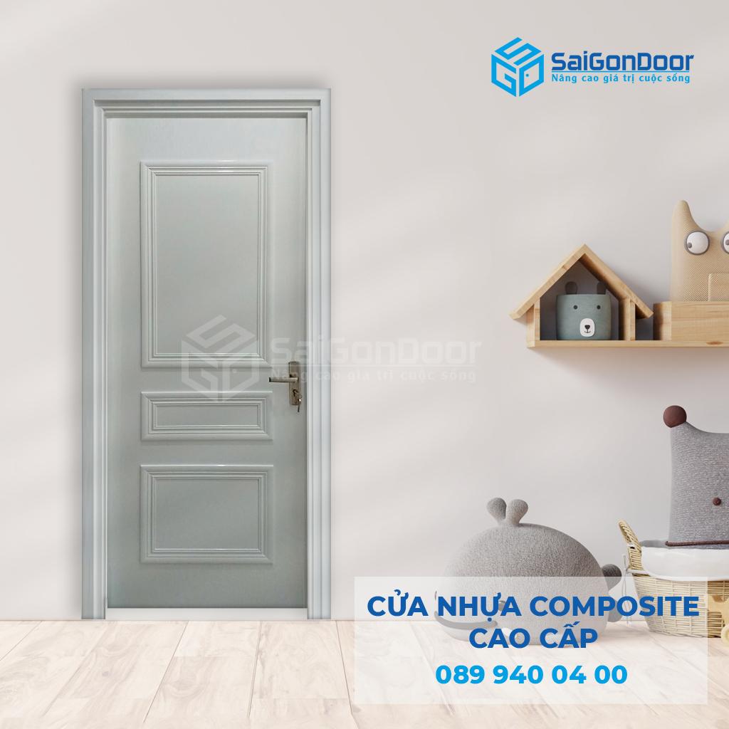 Cửa nhựa composite làm cửa phòng khách