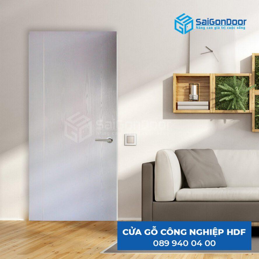 Cửa gỗ HDF trong thiết kế nội thất chung cư