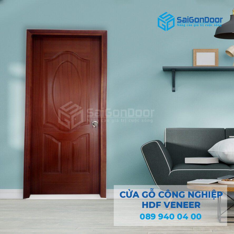 Tính thẩm mỹ cao, chi phí cửa gỗ công nghiệp HDF rẻ: