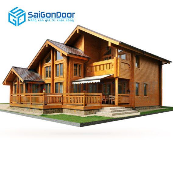 Nội thất gỗ tự nhiên cho căn nhà sang trọng