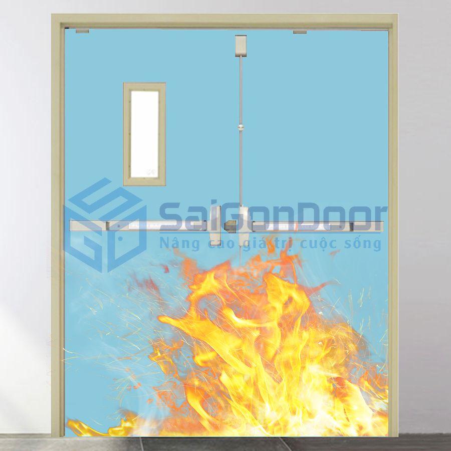 Cửa thép chống cháy chung