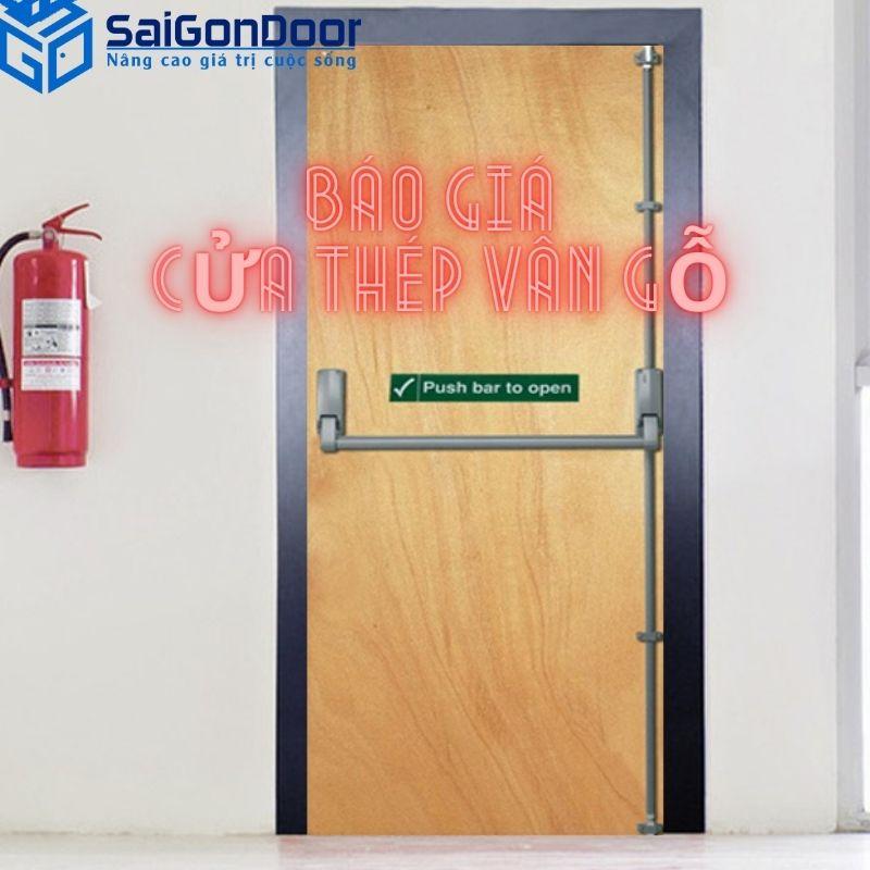Bảng báo giá cửa thép vân gỗ
