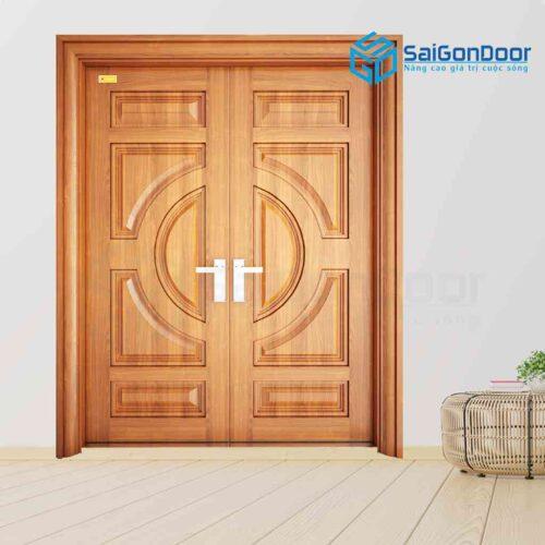 Cửa thép vân gỗ SGD 2H4-V3