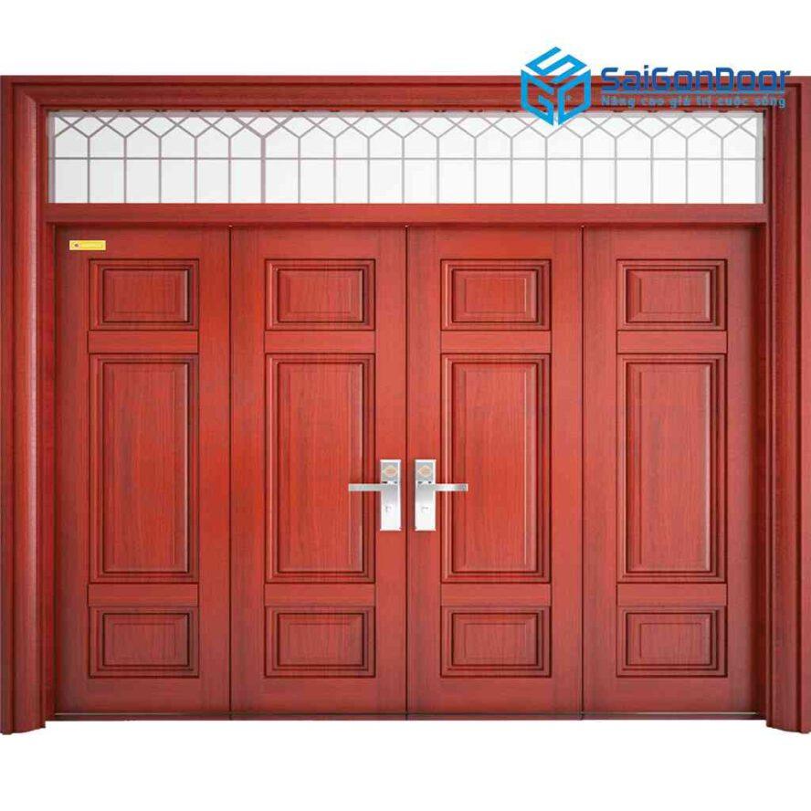Cửa thép vân gỗ SGD 4H8-V1