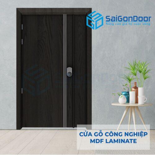 Cửa gỗ công nghiệp MDF Laminate 2P1R3