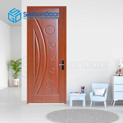 Cửa gỗ nhà tắm SGD Cua go HDF Veneer 1K sapele