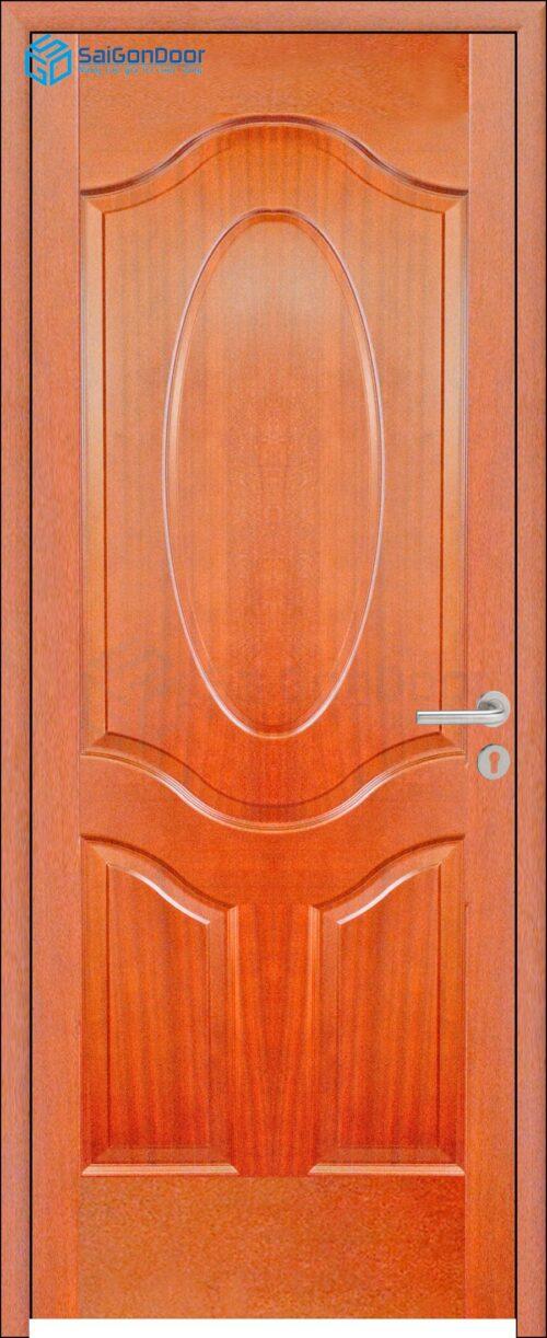Cửa gỗ giá rẻ SGD HDF Veneer 3A-xoan dao (2)