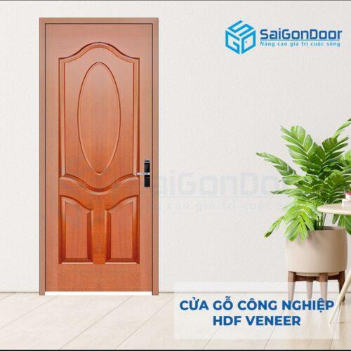 Cửa gỗ công nghiệp HDF Veneer 3A-xoan dao