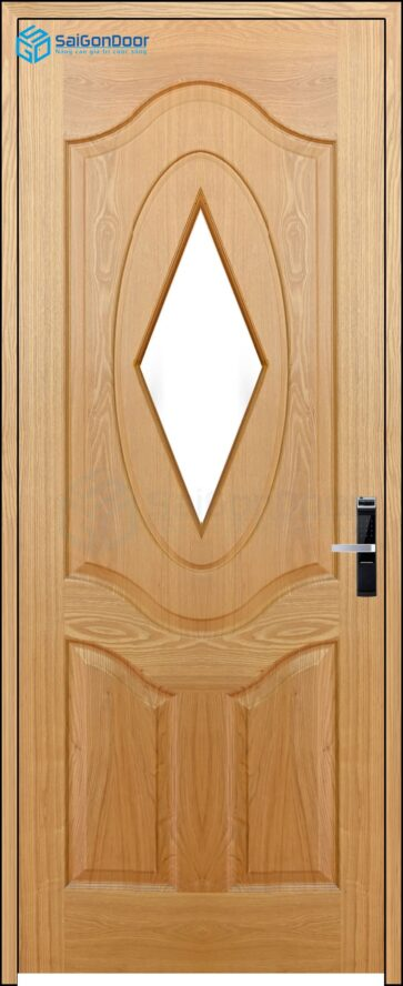 Cửa gỗ công nghiệp HDF Veneer 3AG1-oak.