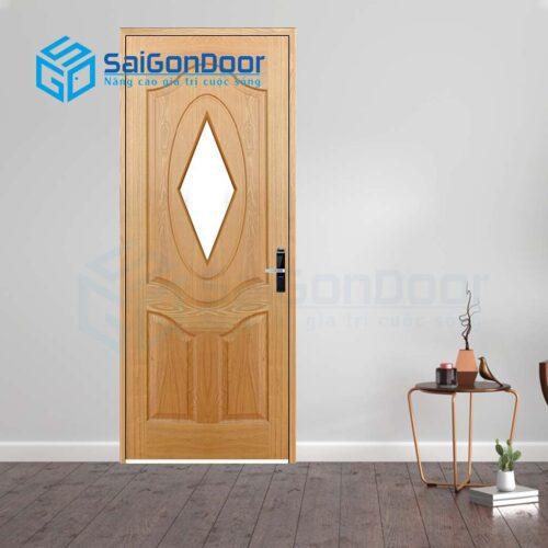 Cửa gỗ nhà tắm SGD Cua go HDF Veneer Veneer 3AG1-oak